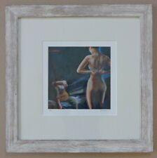 JAN BOSSCHAERT (°1957) / STRIPTEASE / KLEUROFFSETLITHO / 58x58cm / KADER / SIG