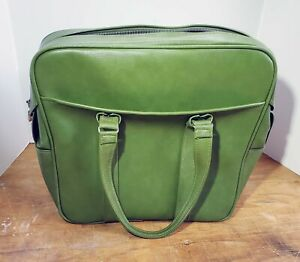 Vintage 1960 Lime Green Samsonite Silhouette Carry On Luggage Bag With Key