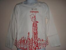 Girl Gap Canada Long Sleeve, Graphic T-Shirt Size 2T NWT