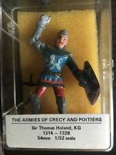 The Armies of Crecy and Poitiers HAND PAINTED, Sir Thomas Holand 54mm 1/32