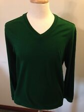 Mens Ping Golf Green Cotton V-Neck Sweater-L Large