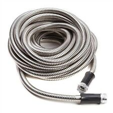 25FT Stainless Steel Metal Garden Hose Lightweight Flexible Car Wash Water Pipe
