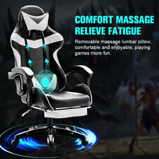 Swivel Racing Gaming Chair Withfootrest Executive Computer Desk Chair Massage Seat