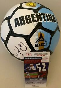 Nico Gaitan Benfica signed F/S Full Size Argentina Soccer Ball Chicago Fire JSA