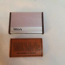 Vintage / New RIZLA LLF Tobacco Cigarette Rolling Papers and Rizla Case Rare
