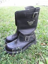 Original Harley-Davidson Boots, Black Leather, Size 9 (Men) or 11 (Women)