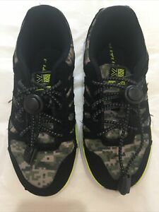 Karrimor Duma boys Running Trainers Size UK 12 EUR 30.5 camo fluro yellow