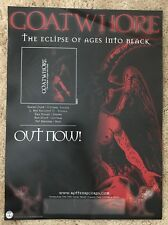 GOATWHORE - ECLIPSE OF AGES INTO BLACK Promo Poster - Original 2000 Acid Bath