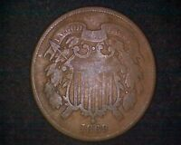 1869 TWO CENT PIECE #16998