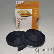 VELCRO Brand Genuine - 20mm x 5M SEW ON Hook and Loop Tape - BLACK -*