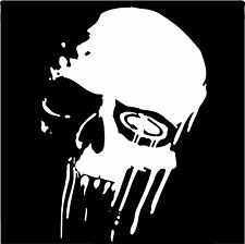 Calavera Vinilo ventana de coche decal sticker Laptop Ipad teléfono Goth Rock Metal Negro Ace