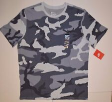 New Nike Grey / White Camo T-SHIRT sz L NWT Large