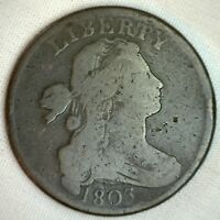 1803 Draped Bust Copper Large Cent Early Penny Type Coin S259 Variety Very Good