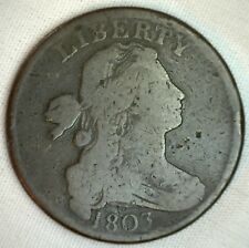1803 Draped Bust Copper Large Cent Early Penny Type Coin S259 Variety VG M9