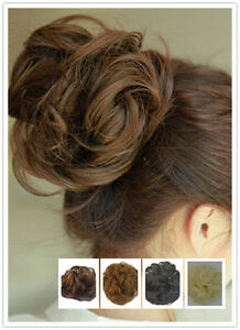 Girl Synthetic Scrunchie Pony Tail Bun Hairpiece Clip in Hair Extension  Elastic