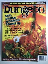 Dungeon Magazine #95 TSR AD&D TSR Dungeons & Dragons D&D With Inserts Intact