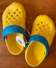 HOLEY SOLES Shoes 10 11 Clogs DRAGONFLY Unisex Molded Rubber Strap Crocs NWT
