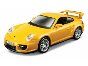 PORSCHE 911 GT2  1:32 Car Metal Model Die Cast Models Diecast Miniature Yellow