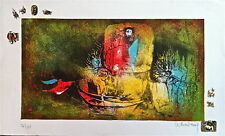 LEBADANG Lithographie signée art abstrait abstraction lyrique