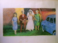 C1 DESSIN Couleurs JULLIAN - MARIAGE NAIF - GRAND FORMAT 50 X 65 cm