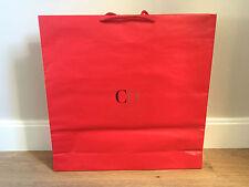 Used - CAROLINA HERRERA -bolsa de papel ROJA - Red Paper bag - 47 x 47,5 x 10 cm