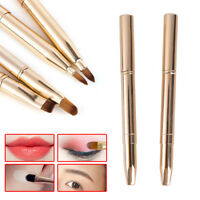 Double-headed Brush Retractable Lip Brush Eye Liner Eyeshadow Eyebrow Brush . SG
