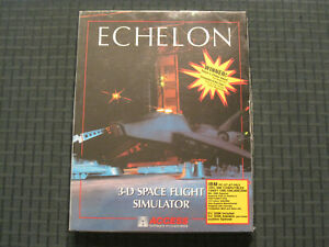 """1988 Echelon PC game (IBM Tandy) Access Software 5.25"""" Disks - sealed"""