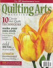 Quilting Arts Magazine Make Your Cloth Add Metal Thread Sketching Anniversary