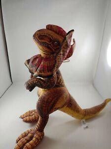 "VTG ACE 1992 Jurassic Park Dilophosaurus Red Yellow T-Rex Dinosaur Plush Toy 22"""