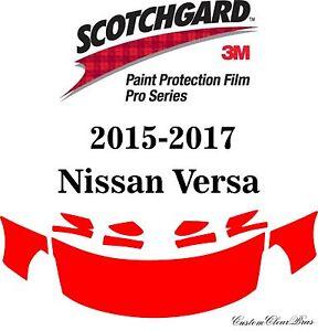 3M Scotchgard Paint Protection Film Pro Series Fits 2015 2016 2017 Nissan Versa