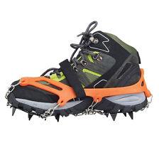 2x Steigeisen rutschfeste Schuhe Abdeckung Freien Ski Wandern orange ET