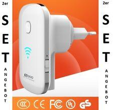 2x froshop ® WLAN WIFI WIRELESS LAN Ripetitore Amplificatore Extender Dual 300 Mbit/s
