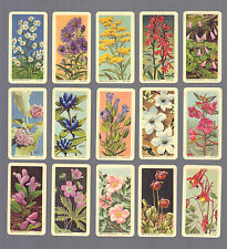 CIGARETTE/TRADE/CARDS.Brooke Bond (Canada).WILD FLOWERS OF N.AMERICA.(1961)(Set)