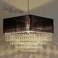 EXCLUSIF (Ve) Lustre Lampe suspendue cristal 40cm