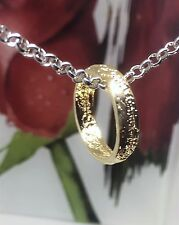 Pendant Necklace Gold Ring Silver Chain Men Women Jewellery Fashion + FREE GIFT