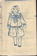 ▬► PATRON Couture Modes et Travaux Robe Taffetas Ecossais 2 4 6 ans Déc 1982
