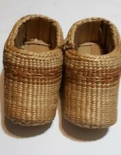 Native American (Pawnee) Artist Made Basket Weave Childs Shoes