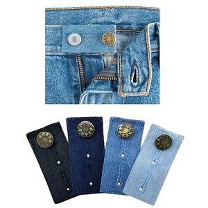 1PC Denim Waist Extender Button For Jeans Skirts Metal Buttons And Buttonholes