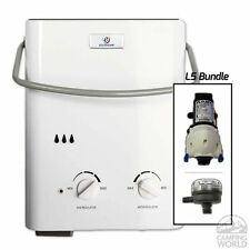 Eccotemp L5 Portable Tankless Water Heater with Flojet Pump & Strainer