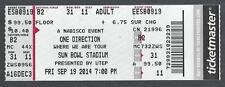2014 ONE DIRECTION FULL UNUSED CONCERT TICKET @ SUN BOWL STADIUM IN ARIZONA