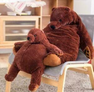 UK Giant Simulation DJUNGELSKOG Bear Toy Brown Teddy Bear Stuffed Animal Toys AN
