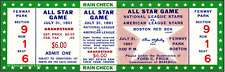 5 1961  BASEBALL ALL-STAR & WORLD SERIES  GAME VINTAGE UNUSED FULL TICKETS rpo