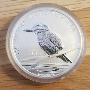 2007 Australia 1oz $1 Kookaburra .999 Silver Coin - in capsule