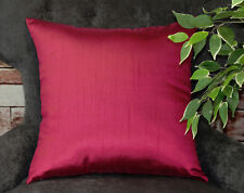 Aiking Home Solid Faux Silk Euro Sham / Throw Pillow COVER, Multi Size / Color