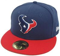 New Era Houston Texans Blu Marino Red 2 Tone Cap NFL 59fifty Fitted Edizione