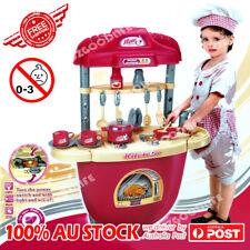 sound light kitchen cooking toy trolly set pretend role play children best gift