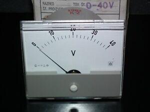 Vintage Instrument 0-40V Voltmeter Iskra Yugoslavia