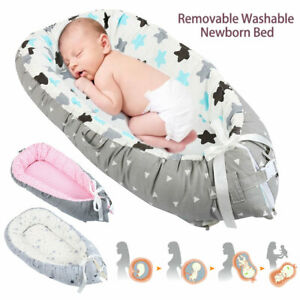 Newborn Baby Sleeping Bed Portable Foldable Bassinet Crib Nest Fr 0-3 Years Old
