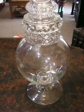 Antique Dakota Drug Store Apothecary Candy Jar Ground Glass Top