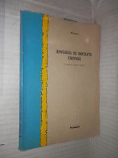 APOLOGIA DI SOCRATE CRITONE Platone Maria Goretti Palumbo 1961 libro filosofia
